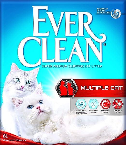 Ever Clean múltiples Cat Litter, 6 L: Amazon.es: Productos para ...