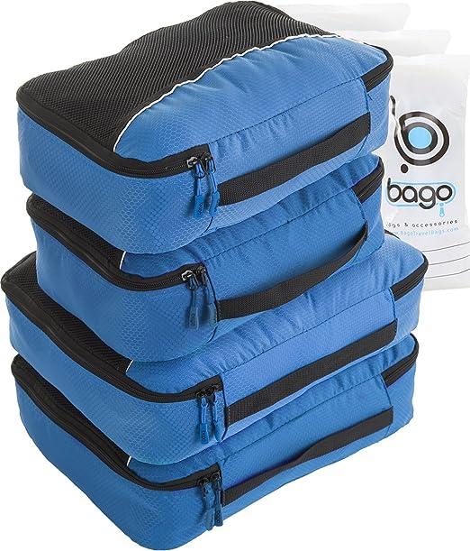 166 opinioni per 4Pz Bago Cubi Di Imballaggio- Set per Viaggi (2Blue+2Blue)+ 6Pz Sacchetti