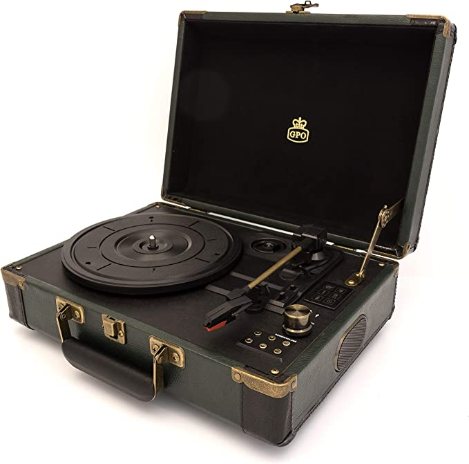 GPO Ambassador Reproductor de Discos Bluetooth, Tocadiscos de ...