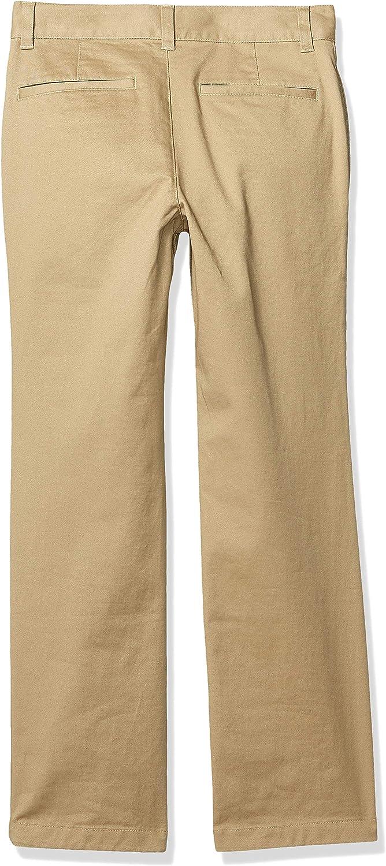 Essentials Boys Straight Leg Flat Front Uniform Chino Pant