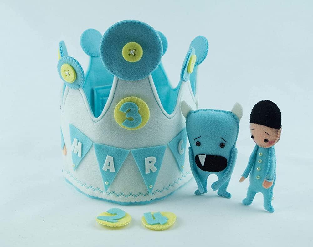 Corona Cumpleaños Marc y Cram: Amazon.es: Handmade