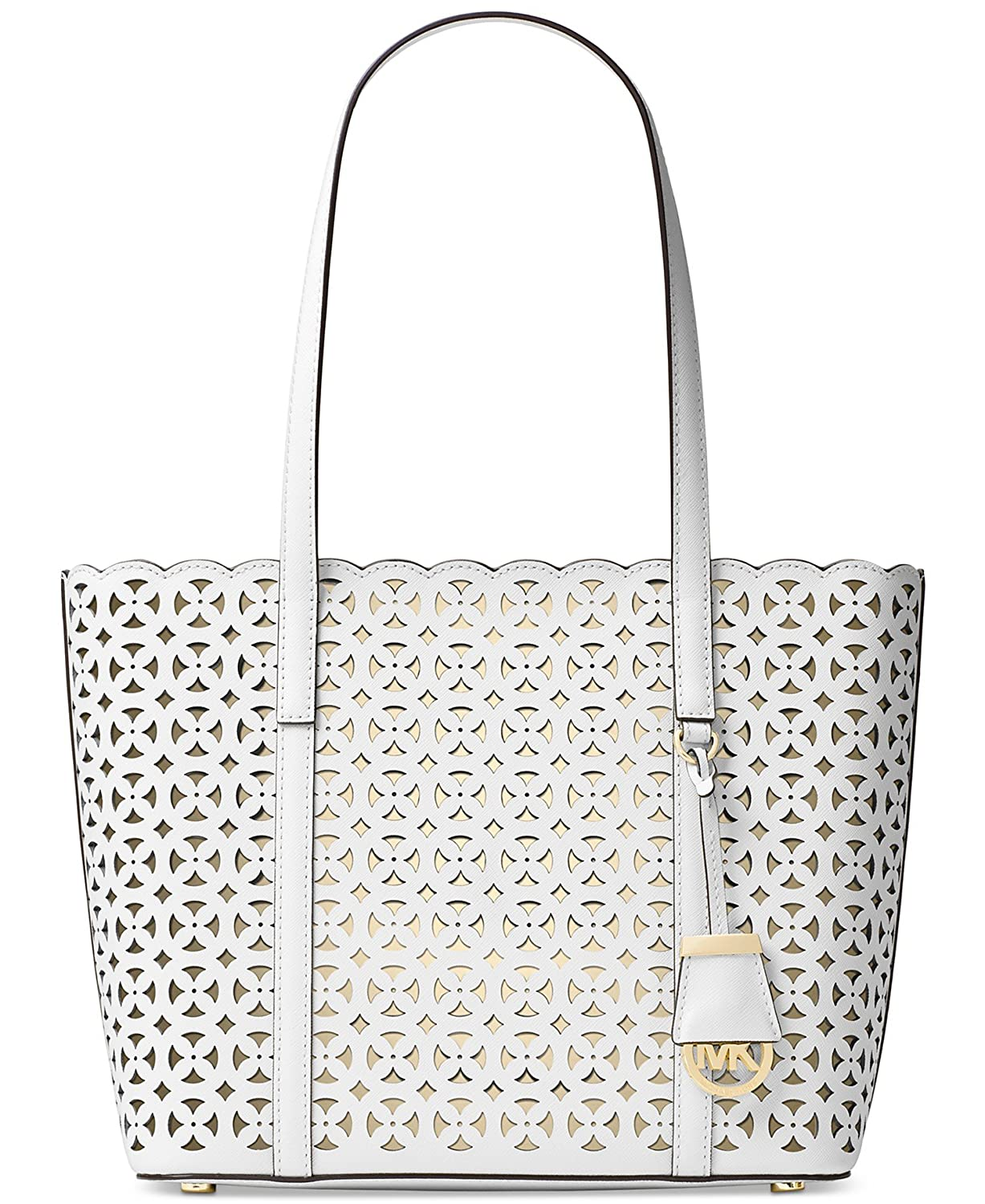 d7898f4d282 MICHAEL Michael Kors Desi Small Leather Travel Tote Optic White