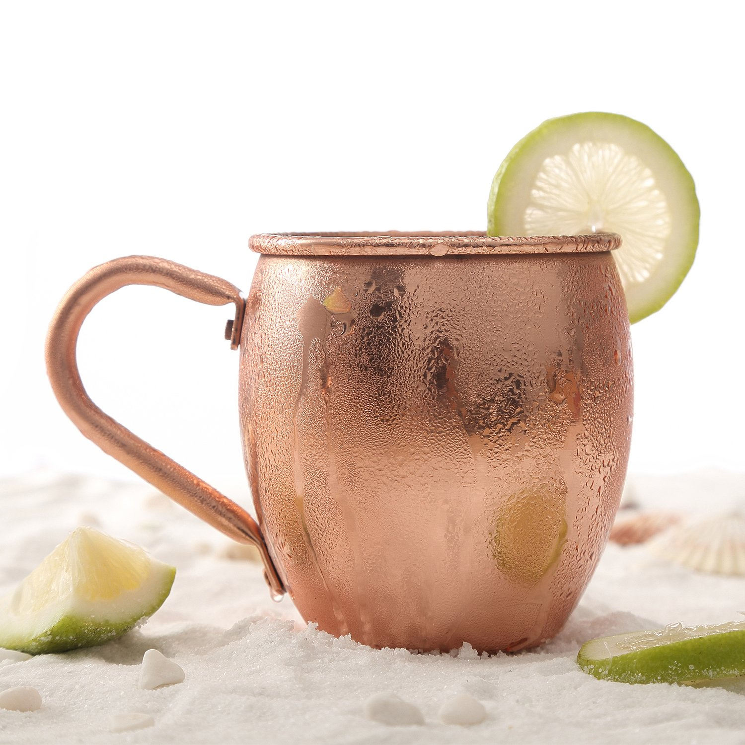 Magisor Moscow Mule Copper Mugs 100/% Handcraft Pure Solid Copper Mug with Brass Handle 18.5 oz 2 Set