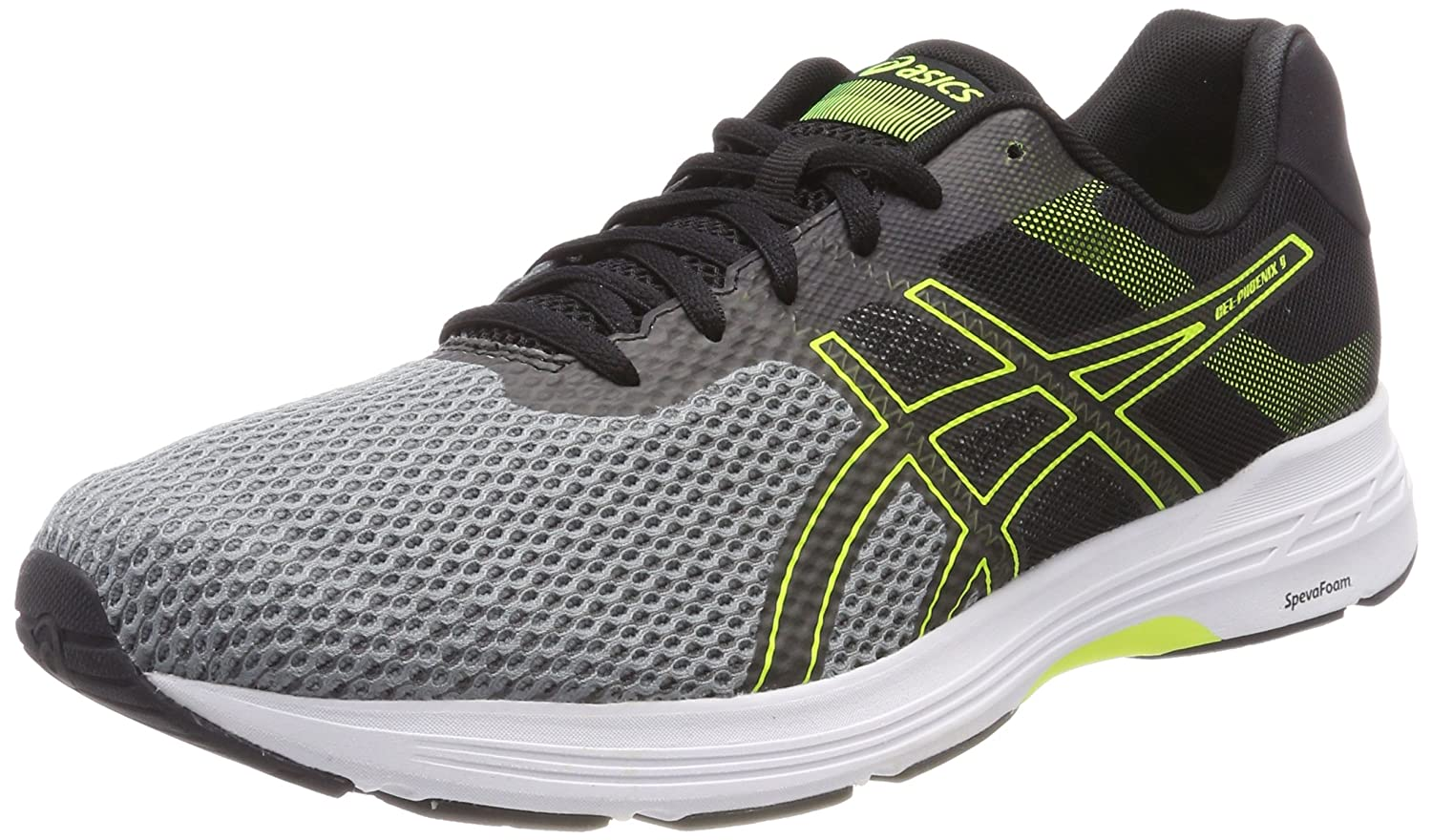 Asics Gel-Phoenix 9, Zapatillas de Running para Hombre 42.5 EU|Multicolor (Stone Grey/Black/Safety Yellow 1190)