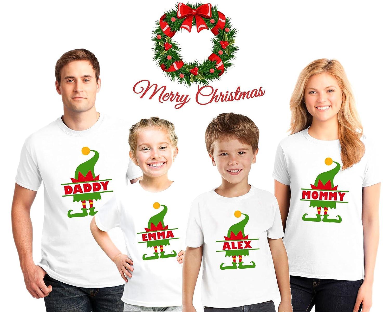 fcf73b316e Amazon.com  Personalized Christmas Family Pajama Matching Shirts ...