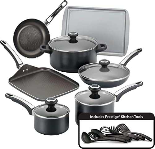 Farberware High-Performance Nonstick Cookware Pots and Pans 17 Piece set