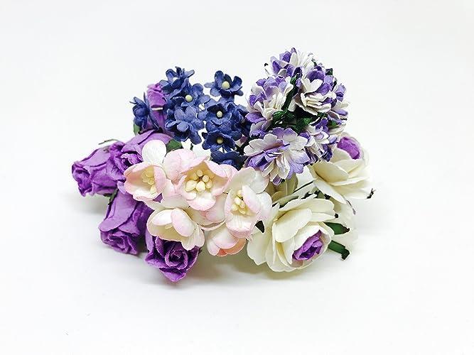 Amazon diy flower crown kit mulberry paper flowers purple diy flower crown kit mulberry paper flowers purple paper flowers paper flowers mightylinksfo