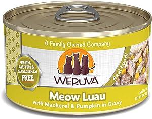 Weruva Classic Cat Food, Meow Luau With Mackerel & Pumpkin In Gravy, 3Oz Can (Pack Of 24)