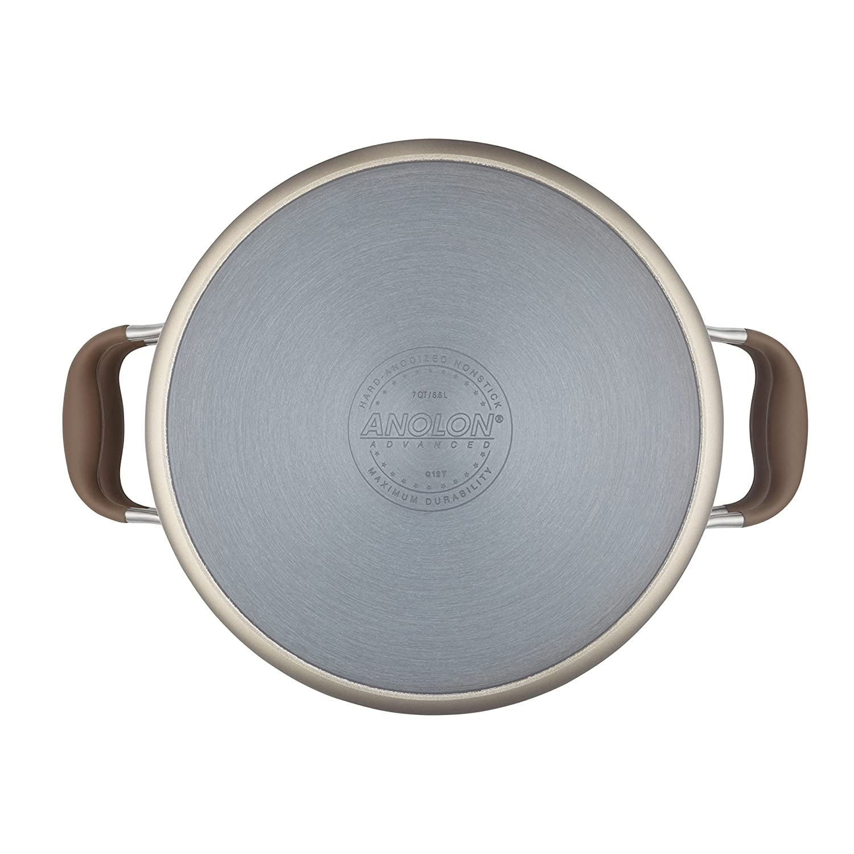 Amazon.com: Anolon Advanced Umber Hard-Anodized Nonstick 3-Piece Pasta Set: Kitchen & Dining