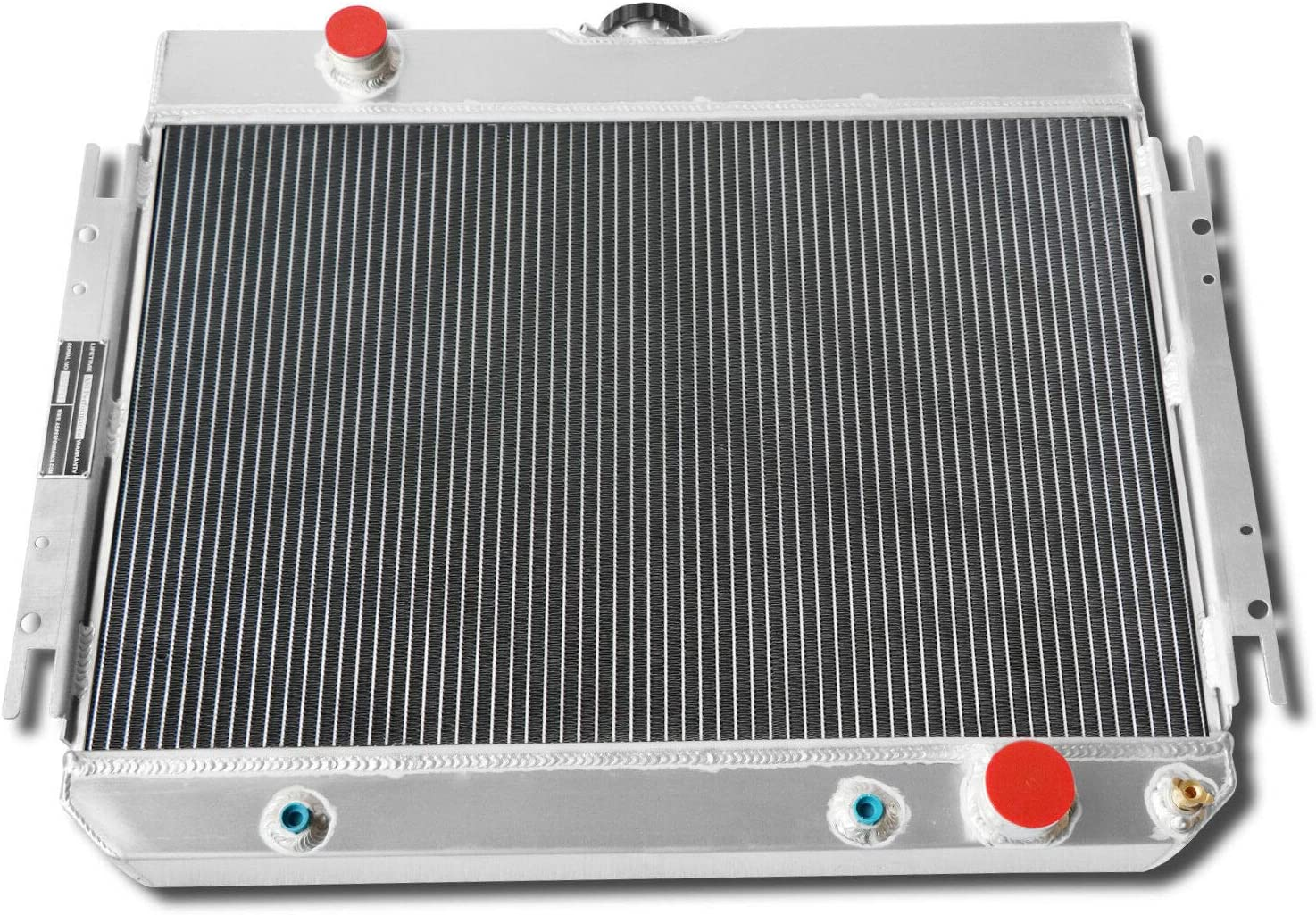 CoolingCare 4 Row Radiator 12 Fans for 1963-1968 Chevy Multiple Models Bel Air Caprice El Camino Impala Louver Shroud
