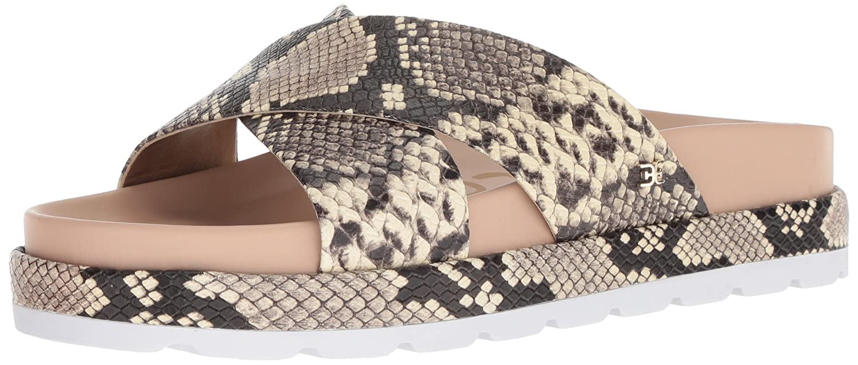 Sam Edelman Women's Sadia Slide Sandal B078HMD3DP 10.5 B(M) US|Natural Snake Print