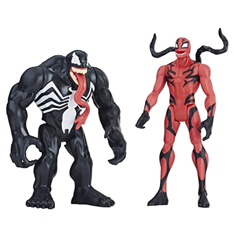 amazon com marvel venom venom carnage figure 2 pack toys games