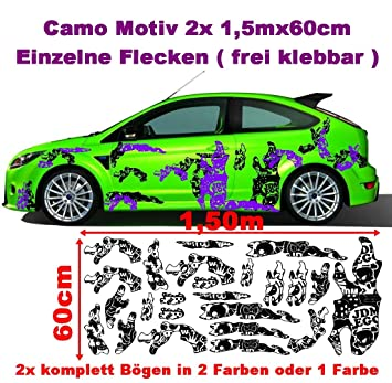 Stickerbomb Camo 2x 2m Camouflage Camo Einzelne Flecken