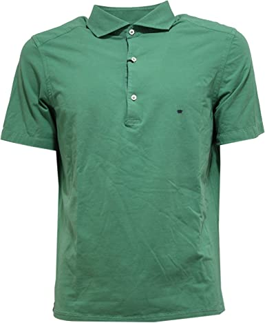 SONRISA 5663U Polo uomo Washed Collection Green Polo t-Shirt Men ...