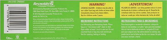 Hefty One Zip Freezer Bag 18 count