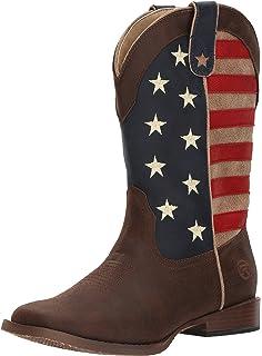 d833375b253 Amazon.com: ROPER Men's American Patriot Western Boot: Shoes
