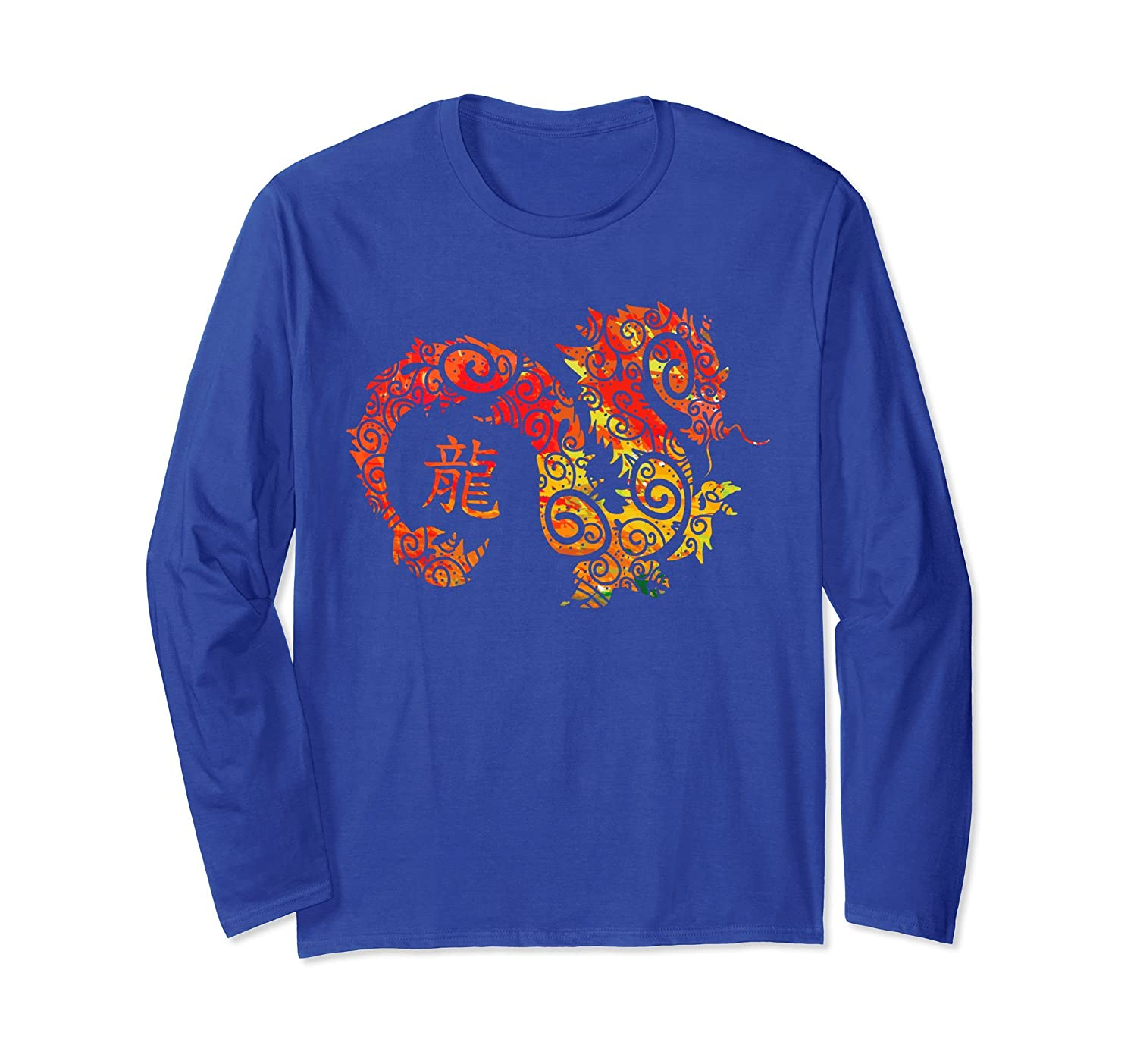 Year of the Dragon Chinese Zodiac Long Sleeve T-shirt-mt