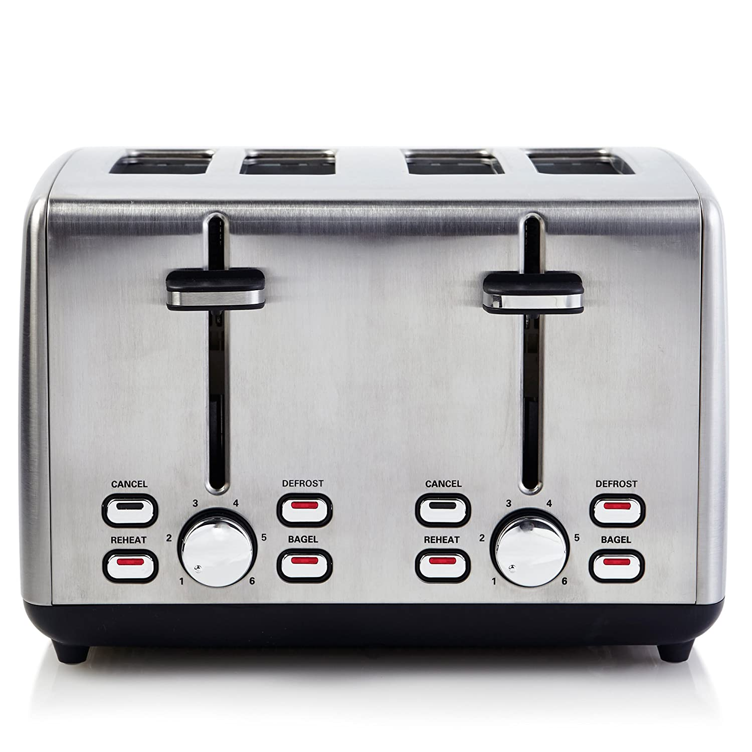Continental Electric Toaster ps77451, 4-Slice, Silver