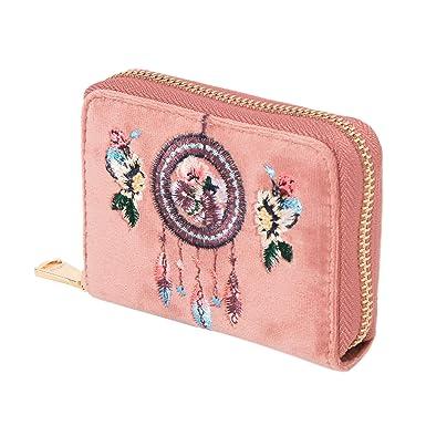 Parfois - Monederos Porta Tarjetas Terciopelo Rosa - Mujeres - Tallas S - Rosa: Amazon.es: Ropa y accesorios