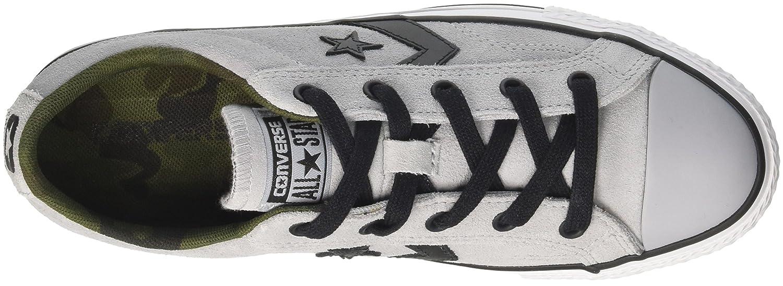 Converse schwarz Unisex-Erwachsene Star Player OX Wolf grau schwarz Converse Weiß Fitnessschuhe a6140a