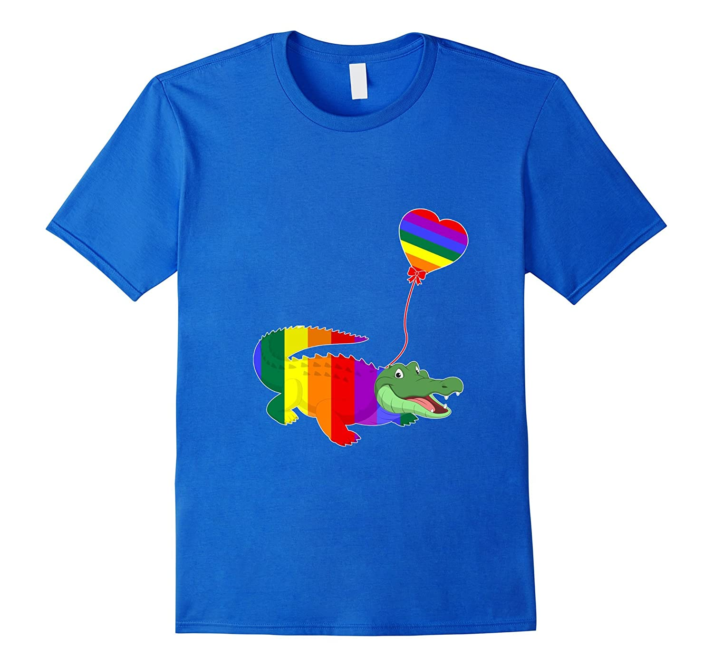 Crocodile LGBTQ 2017 Rainbow Gay Lesbian Pride Tshirt
