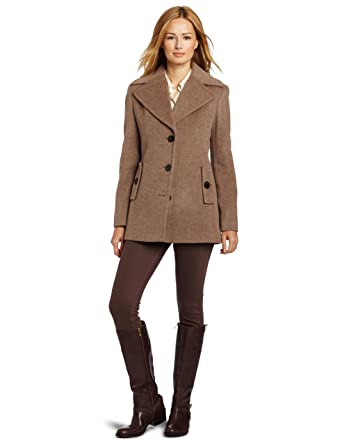a7149be424a Amazon.com  Calvin Klein Women s Single Breasted Wool Coat  Clothing