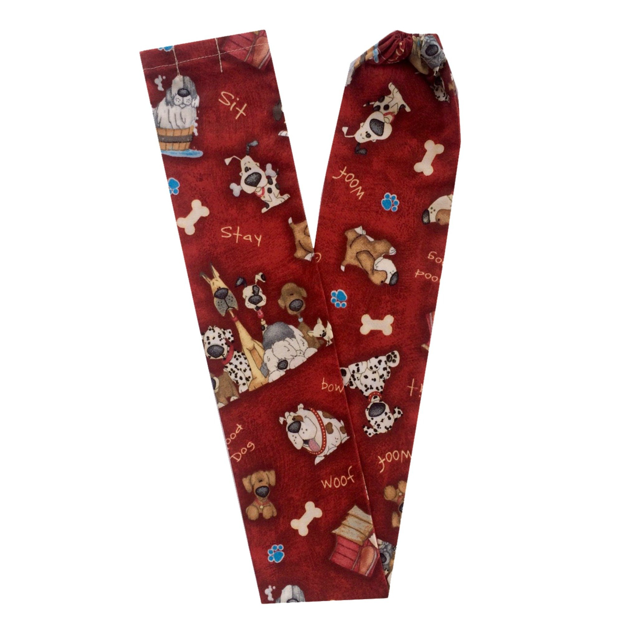 Stethoscope Covers Handmade Variety Patterns Colors 100% Cotton Scrunchie (Dogs and Bones)