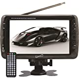 SuperSonic Portable Widescreen LCD Display with Digital TV Tuner, USB/SD Inputs and AC/DC Compatible for RVs, 7-Inch