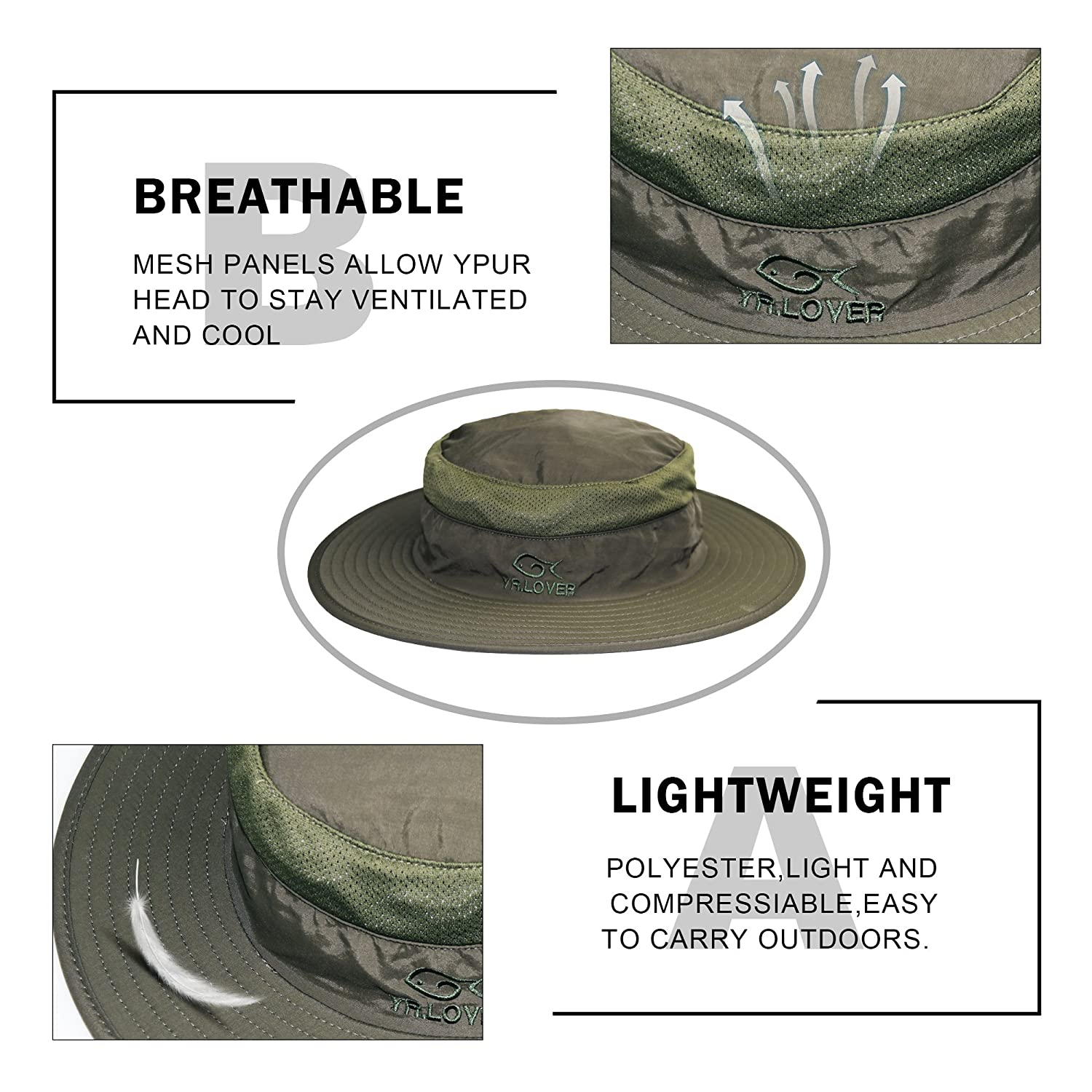 c00b7324247 Lover Outdoor UV Sun Protection Wide Brim Fishing Cap -Men and Women Face  Cover Summer Removable Mesh Neck Face Flap Gardener Hat for Outdoor Sports  ...
