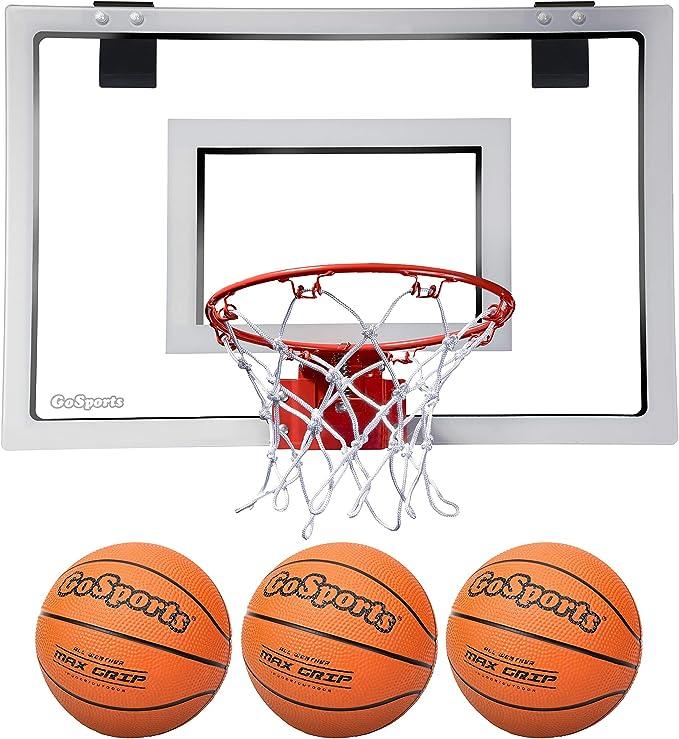 Amazon.com : GoSports Basketball Door Hoop with 3 Premium Basketballs & Pump - PRO Size : Sports & Outdoors