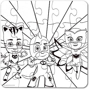 Cardinal Games PJ Máscaras 20 Piezas Color su Propio ...