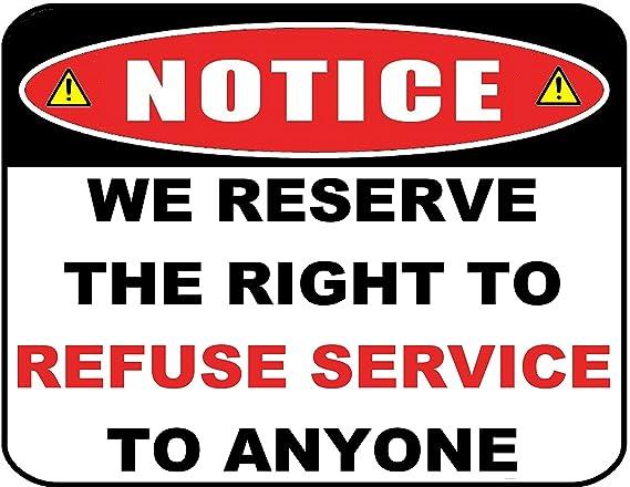 aviso nos reservamos el derecho de denegar el Servicio a ...