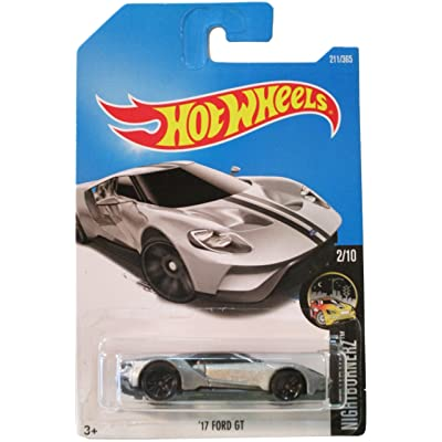 Hot Wheels 2020 Nightburnerz '17 Ford GT 211/365, Silver: Toys & Games