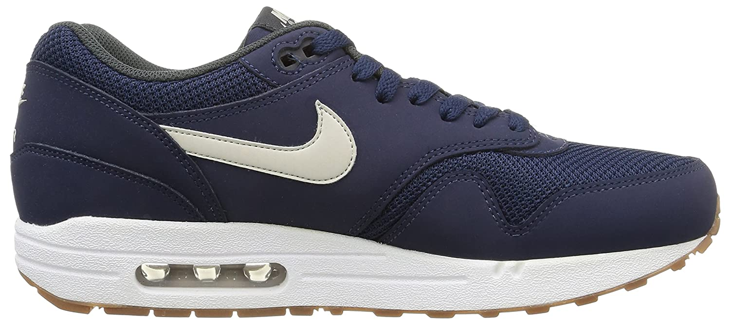 on sale 50923 62665 NIKE, Men, Trainers, air max 1 essential, (midnight navy light bone-white),  6.5 UK, 39 EU  Amazon.co.uk  Shoes   Bags