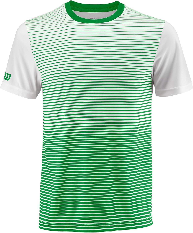 M Team Striped Crew Camiseta Deportiva de Hombre Poli/éster Wilson
