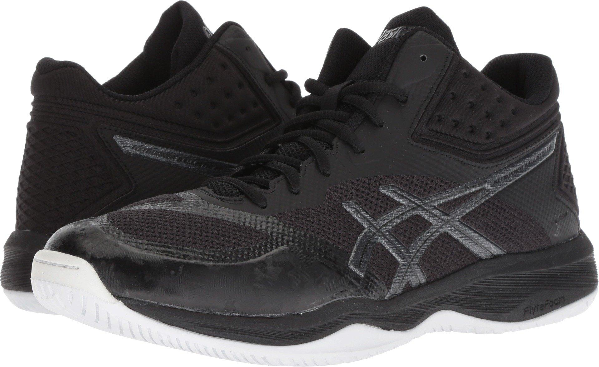 ASICS Men's Netburner Ballistic FF MT Volleyball Shoes, Black/Black, Size 6