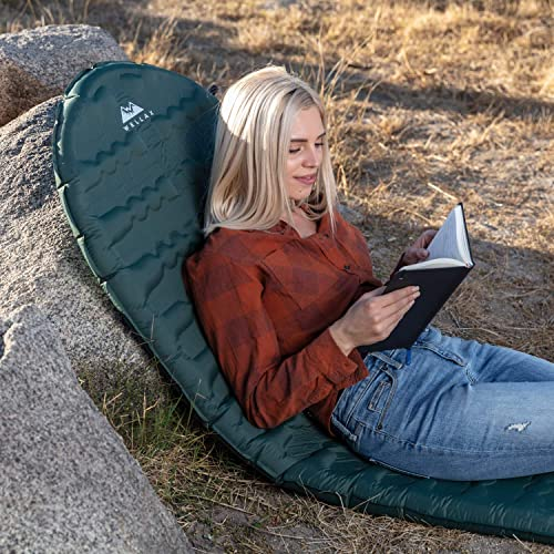 WELLAX Ultralight Self Inflating Sleeping Pad for Camping – Best Inflatable Camping Mat for Backpacking, Traveling and Hiking – Hybrid Camp Mattress with Foam Frame