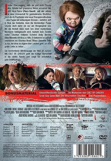 Cult of Chucky [Alemania] [DVD]: Amazon.es: Fiona Dourif, Jennifer Tilly, Alex Vincent, Elisabeth Rosen, Michael Therriault, Grace Lynn Kung, Don Mancini, Fiona Dourif, Jennifer Tilly, Brad Dourif: Cine y Series TV