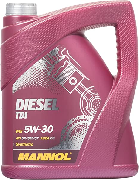 Mannol Diesel Tdi 5w 30 Api Sn Cf Motorenöl 5 Liter Auto