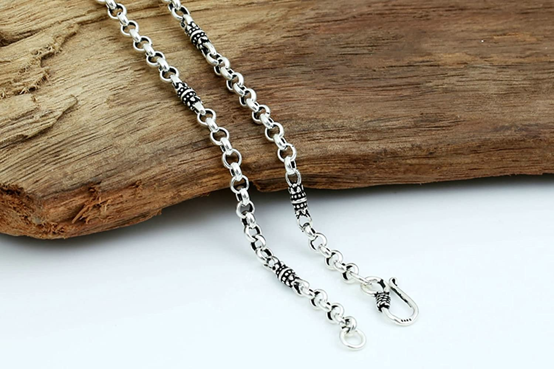 Aooaz Women Silver Material Necklace Punk Belcher Chain Necklace Vintage Necklace