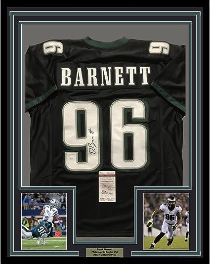 Framed Autographed/Signed Derek Barnett 33x42 Philadelphia Eagles ...