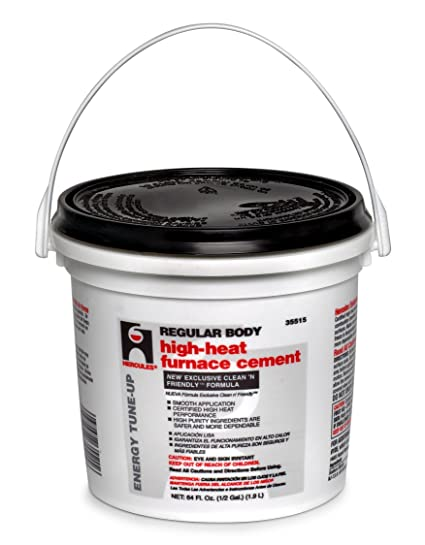 Amazoncom Oatey 35515 Regular Body High Heat Furnace Cement 12