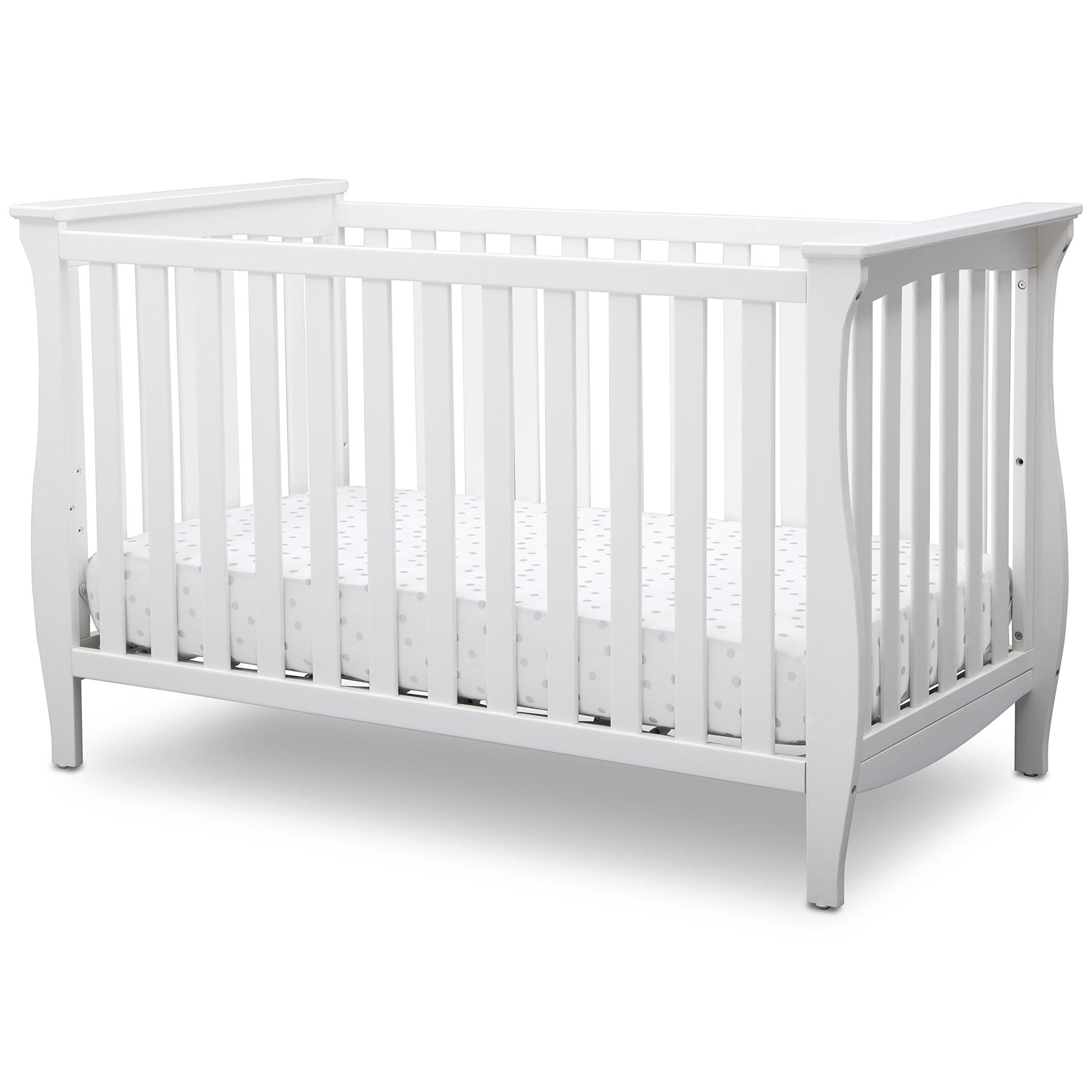 Delta Children Lancaster 3 in 1 Convertible Crib, Bianca White