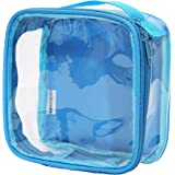 Clear TSA Approved 3-1-1 Travel Toiletry Bag/Transparent See Through Organizer (Turquoise)
