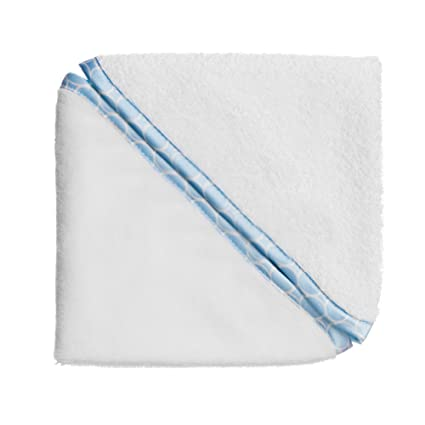SwaddleDesigns Toallas de Velour para Bebé, Mini círculos color pastel, Azul pastel, Set
