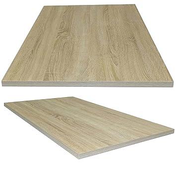 Schreibtischplatte holz  Tischplatte aus Holz für Schreibtische - Holzplatte perfekt geeignet für  Schreibtisch, Couchtisch/Esstisch - Verschiedene Größen & Farben ...