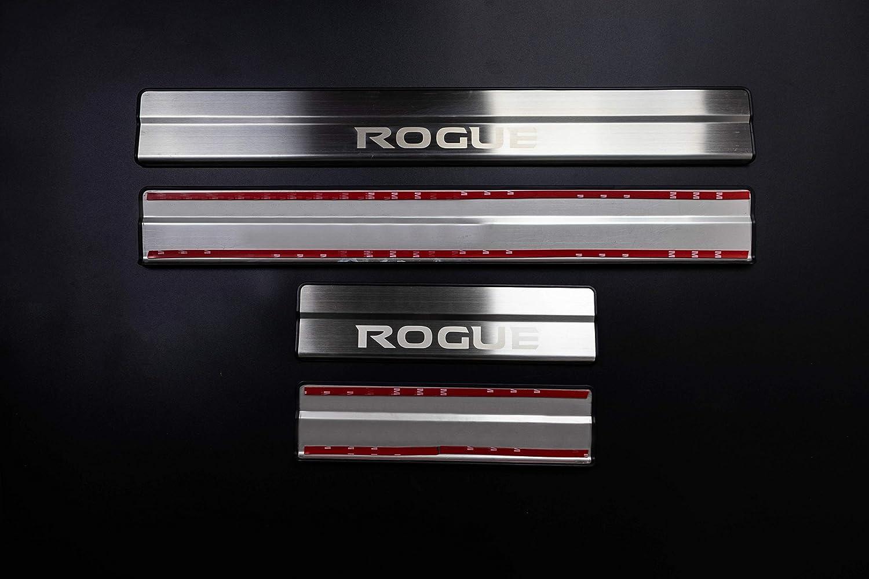 For Nissan Rogue Accessories 2014-2019 Steel Door Cover Door Sill Protector Door Scuff Plate Trim 4pcs