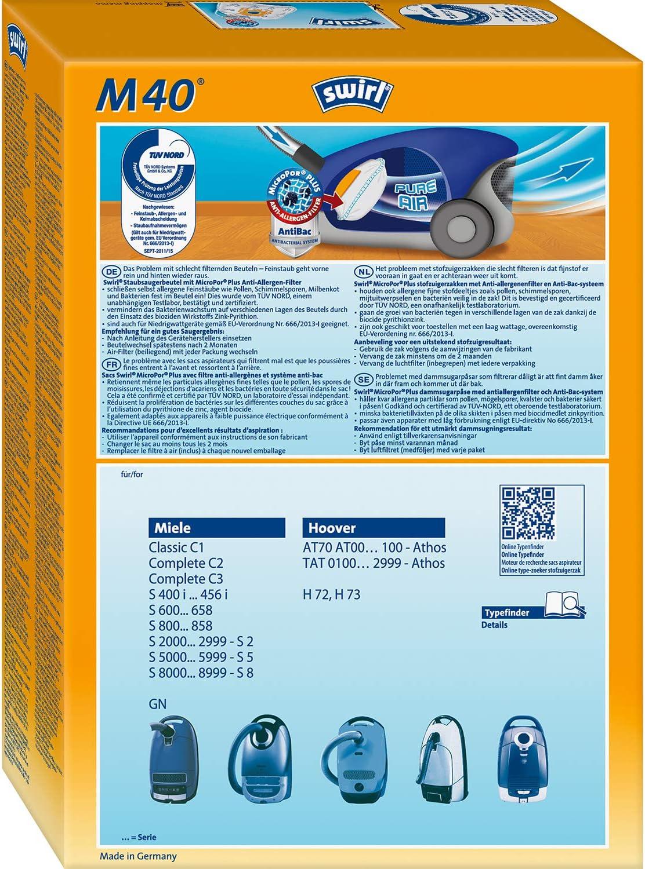20 Filtertüten Miele S2 S2000-2999 Staubsaugerbeutel