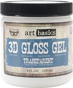 Prima Marketing Art Basics 3D Gloss Gel, 8-Ounce, Transparent