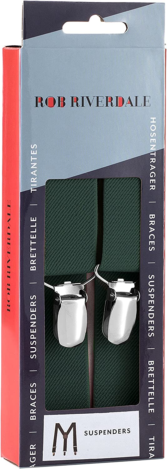 Rob Riverdale Tuxedo Suspenders for Kids Boys and Baby Elastic Fully Adjustable